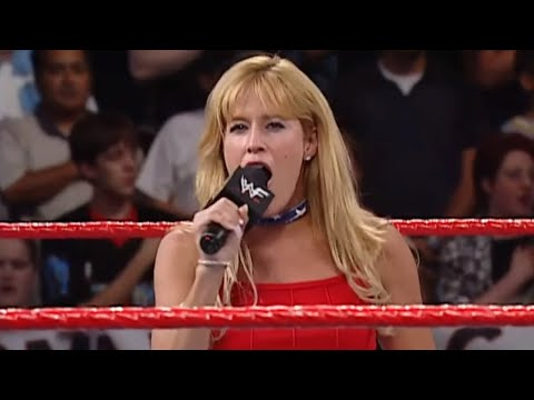 Lilian Garcia sings the national anthem: SmackDown, Sept. 13, 2001