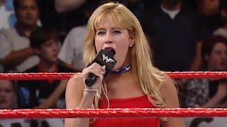 Lilian Garcia sings the national anthem: SmackDown, Sept. 13, 2001