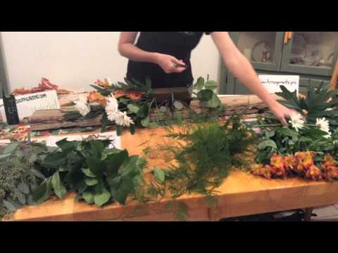 How to make a flower arrangement. Large easy inexpensive ful