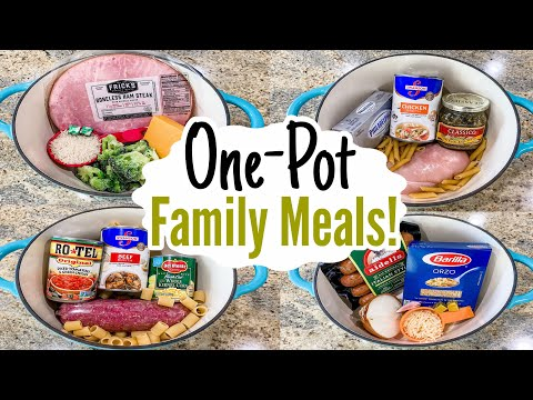 5 Tasty ONE POT Meals | The EASIEST Under 30 Minute & FEW Ingredient Recipes | Julia Pacheco