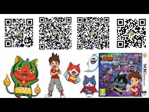 yo kai watch 2 green coin qr codes