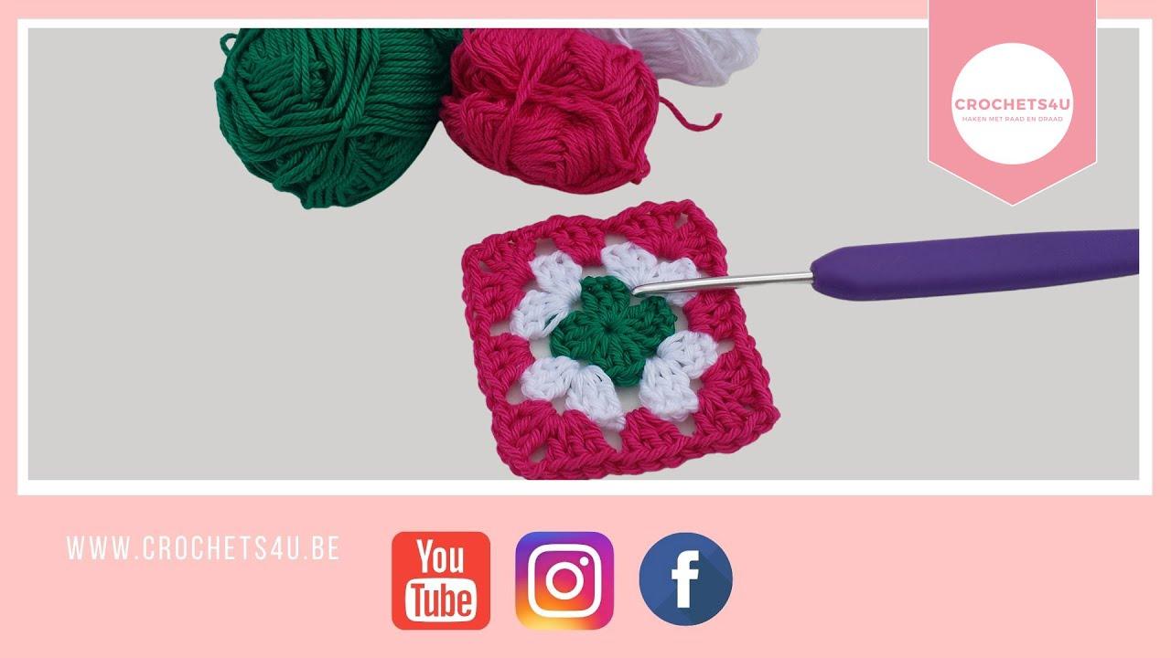 Granny Haken In Meerder Kleuren Crochet Multi Coloured Granny
