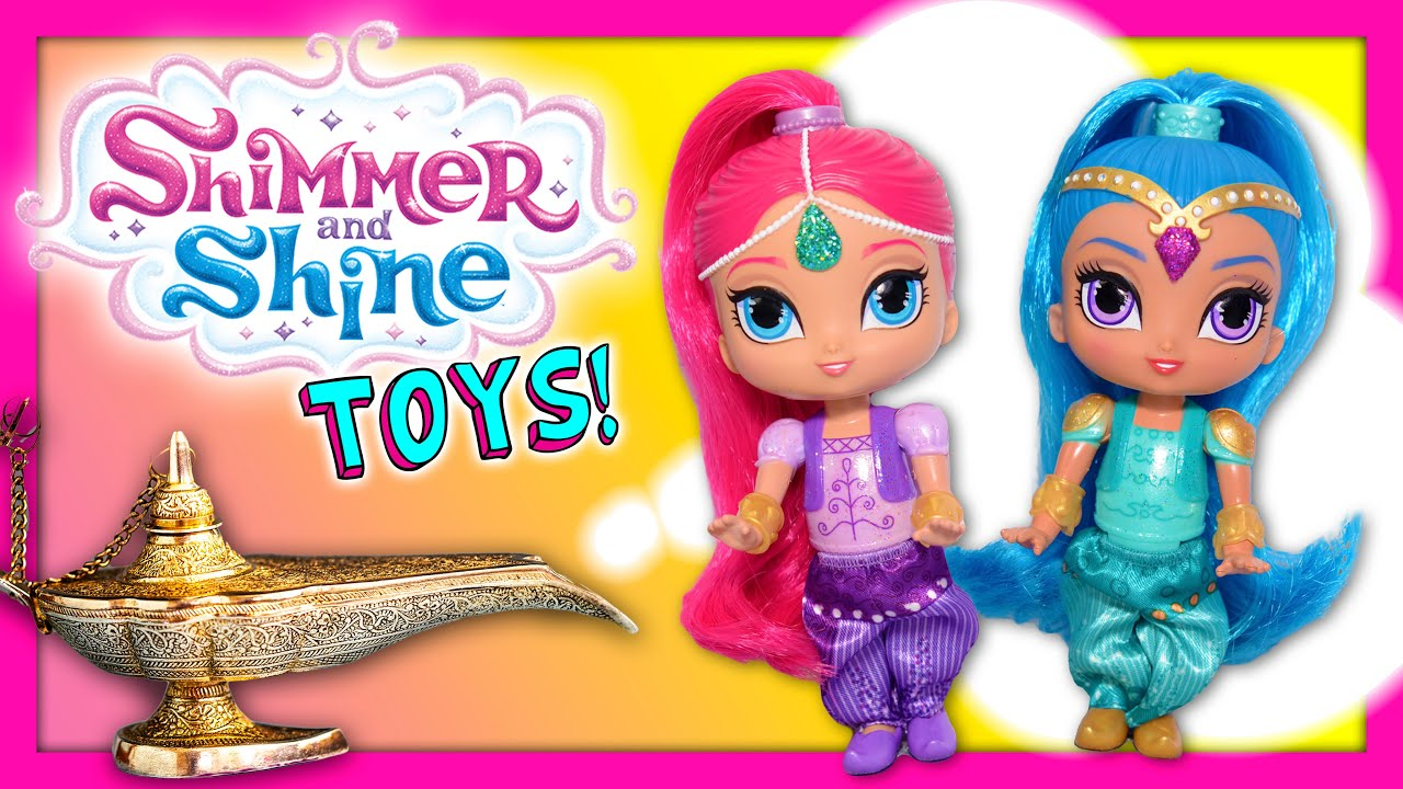 Unboxing the Shimmer and Shine Dolls and Genie Bottles