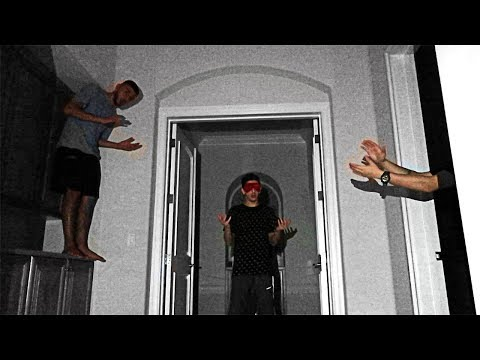 SCARY HIDE AND CLAP IN THE DARK!! (BLINDFOLDED HIDE AND SEEK)   FaZe Rug
