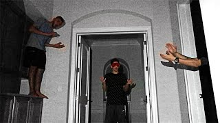SCARY HIDE AND CLAP IN THE DARK!! (BLINDFOLDED HIDE AND SEEK)