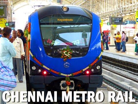 CHENNAI METRO RAIL Grand Inauguration! Alandur-Koyambedu FULL JOURNEY