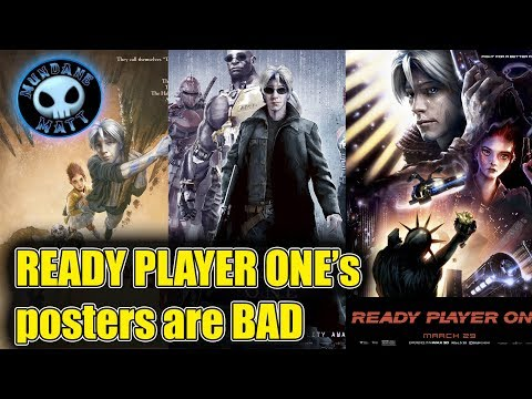 READY PLAYER ONE's posters are pretty terrible
