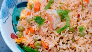 Pakistani-style Shrimp Fried Rice in 10 minutes. What?!!