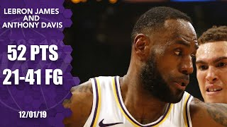 LeBron James, Anthony Davis have a dunk show vs. Mavericks | 2019-20 NBA Highlights