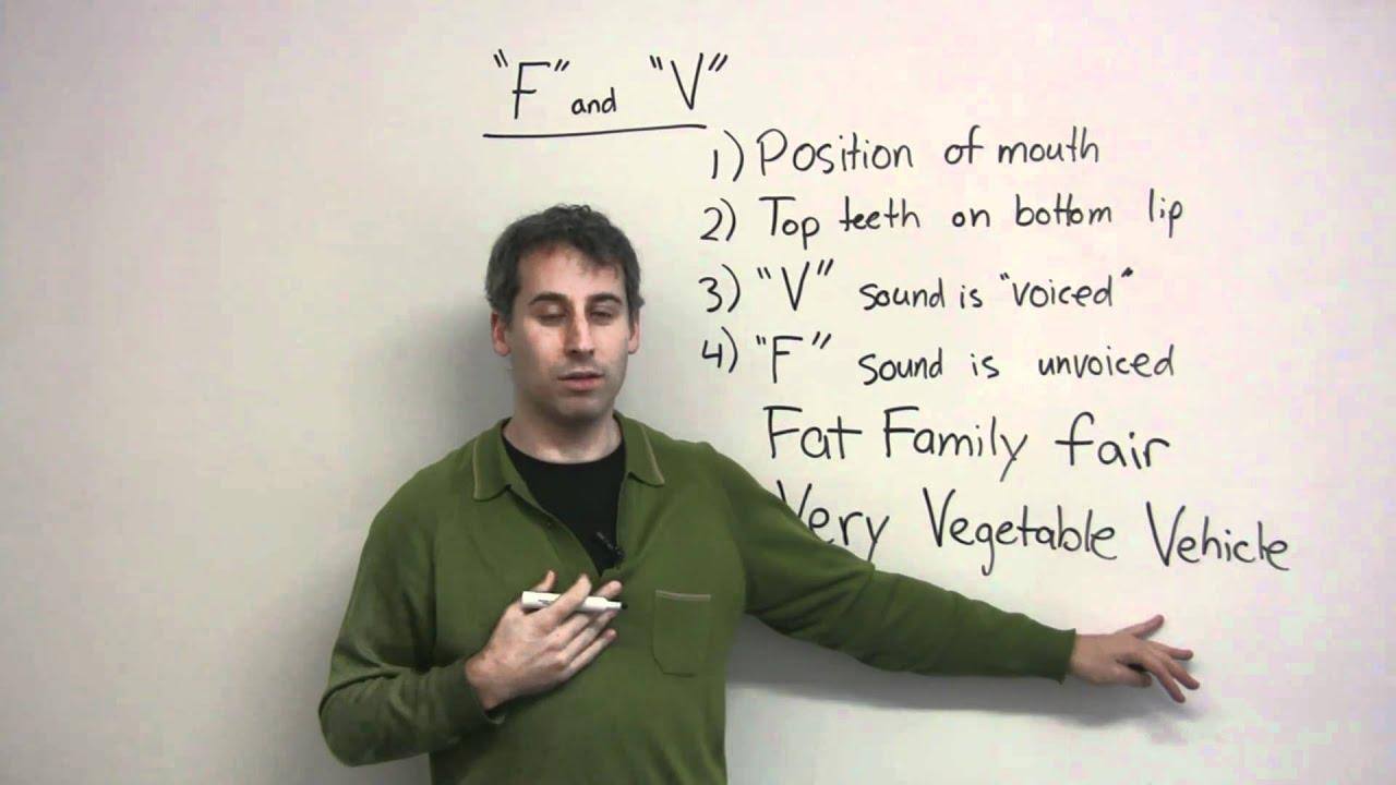 English Pronunciation - F & V
