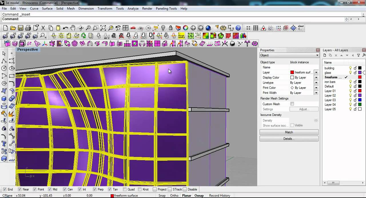 Advanced Bim Techniques In Rhino 3d Curtain Panels Youtube