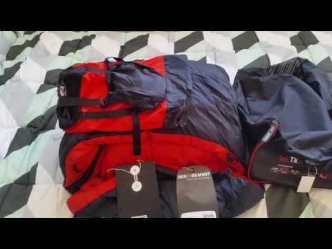 Sea to Summit Trek 2 sleeping bag unboxing and compressed si