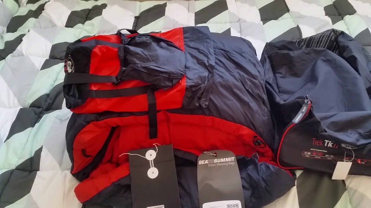 Sea to Summit Trek 2 sleeping bag unboxing and compressed size - YouTube 97dca2dd3