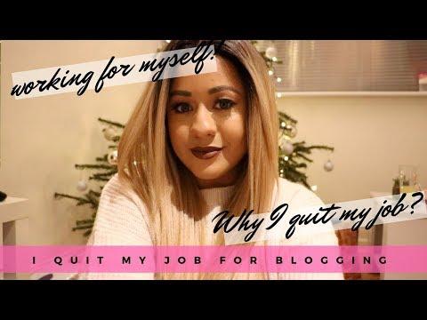 I QUIT MY JOB FOR BLOGGING!? | Self Employed & Why I quit! Siana
