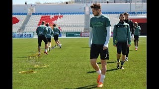 Тренировка перед матчем «Уфа» — «Тосно»