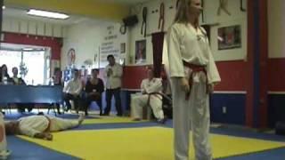 Black Belt test self defense: Zoe