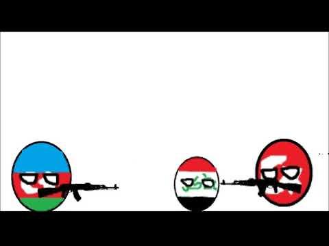 Azarbaycan , Türkiye vs Irak Countryball