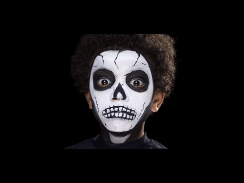 Skeleton Halloween Face Painting Make-up Tutorials for Children ...