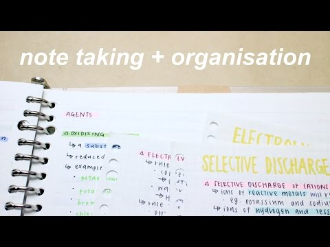 note taking and organisation  *:・゚✧