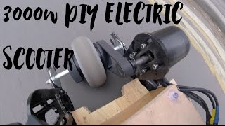 3000W DIY Electric Scooter & Answering Viewer Questions