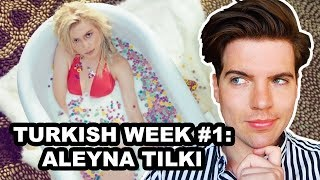 REACTION: ALEYNA TILKI - YALNIZ ÇİÇEK | TURKISH WEEK #1