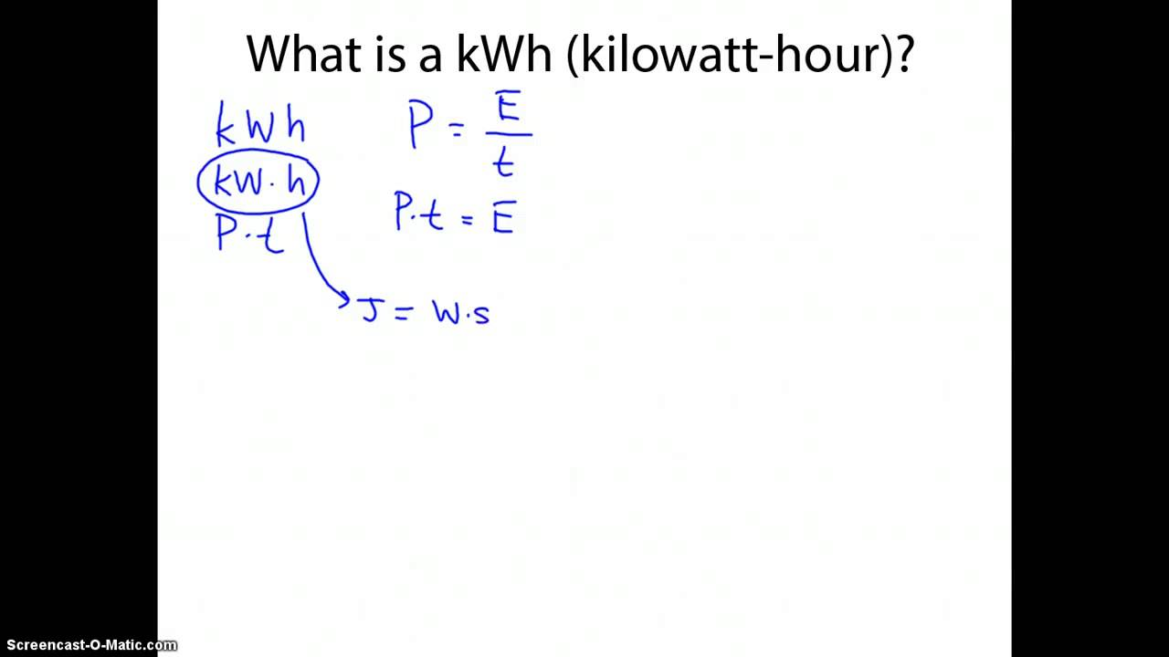 kwh to joules
