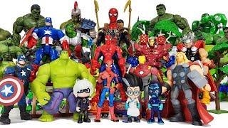 Romeo attacking the Avengers! Spider-Man, Iron Man, Hulk, Thor, Captain America, Thanos, PJ Masks