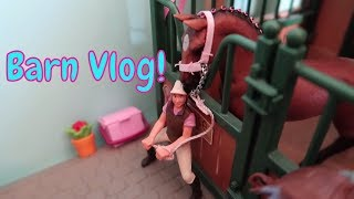 NEW Schleich Horse Barn Vlog With Emma First Day TV