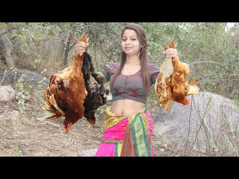 Country Chicken Gravy | Nattu Kozhi Kulambu | Cooking Traditional Village Country Chicken Recipe