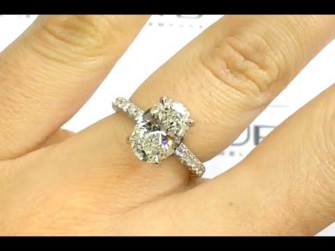 2.50 Carat Oval Diamond Engagement Ring In Platinum