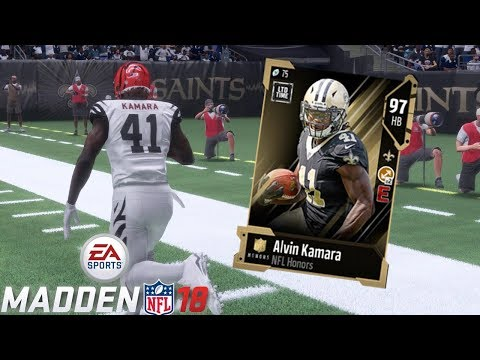 NFL HONORS ALVIN KAMARA CANT BE STOPPED!! | MADDEN 18 ULTIMATE TEAM