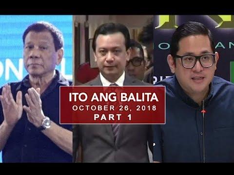 UNTV: Ito Ang Balita (October 26, 2018) PART 1