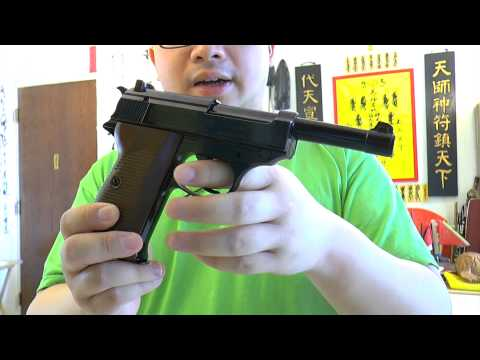 Walther P38 Co2 4.5mm Blowback Air Pistol Review and Shooting
