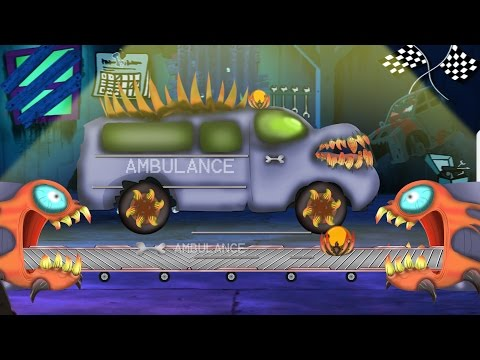Scary Ambulance | Car Garage | Car Repair |Toy Garage Video For Kids