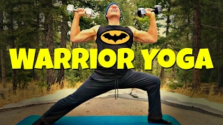 Warrior Yoga w/ Weights - 2 Dumbbells and a Yoga Mat - Power Yoga with Weights Workout (part 2)