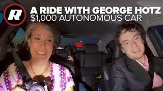 We go riding with George Hotz and his $1,000 autonomous car | Comma.ai