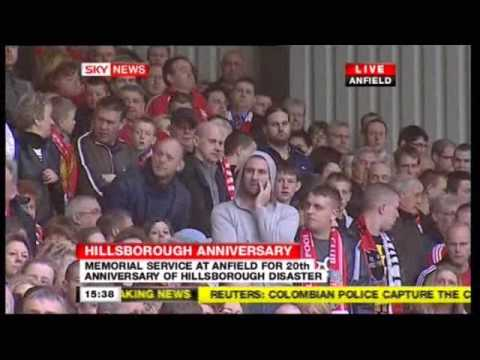 Andy Burnham heckled at Anfield  15th April 2009
