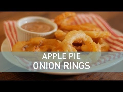 Food Deconstructed - Apple Pie Onion Rings