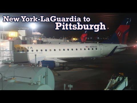 Full Flight: Delta Connection E175 New York-LaGuardia To Pittsburgh (LGA-PIT)