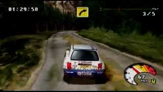 Mobil 1 Rally Championship Arcade Gameplay (PlayStation)