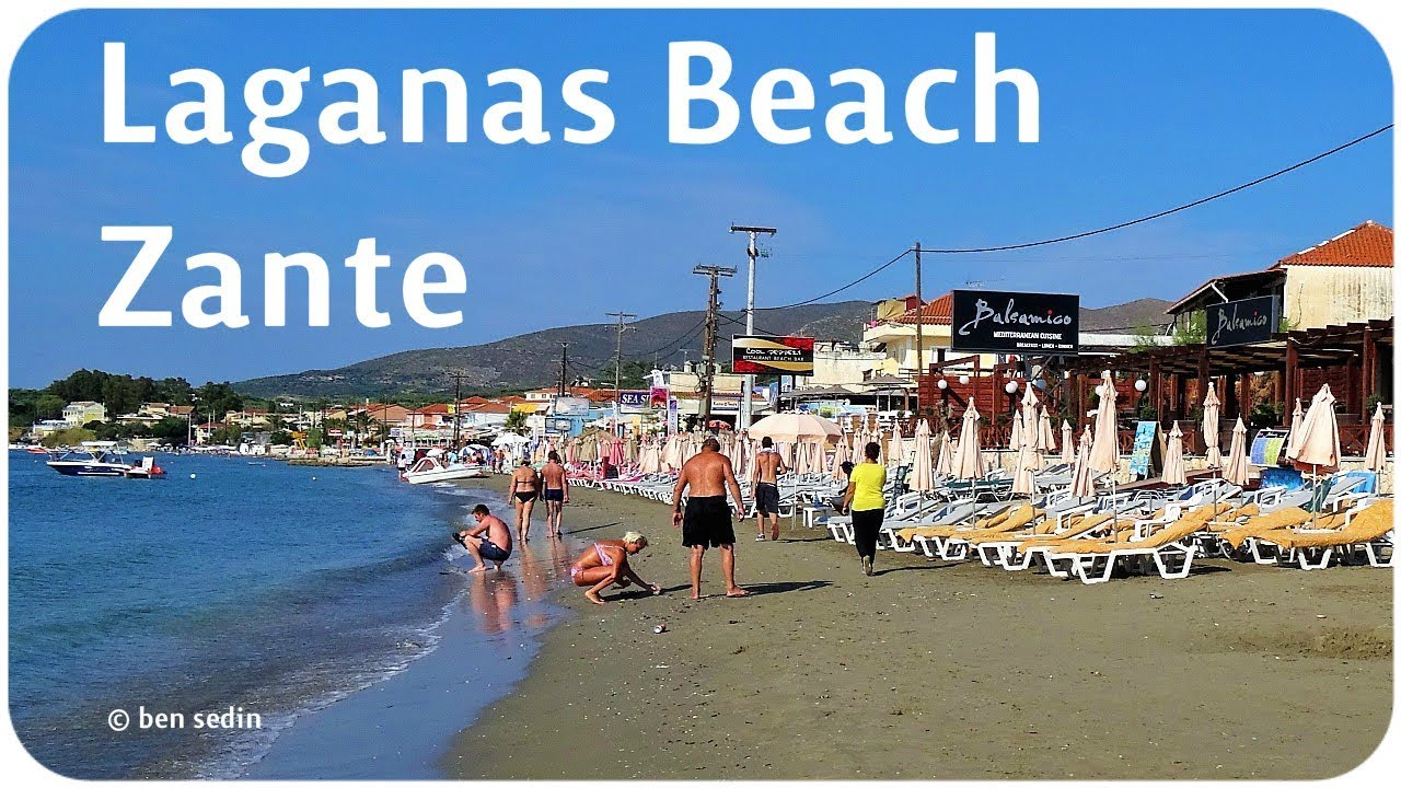 laganas beach, zante - full hd - youtube
