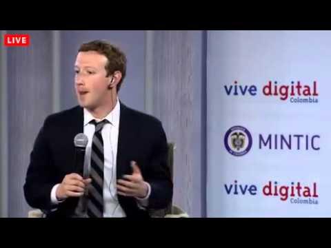 Mark Zuckerberg y Juan Manuel Santos - Lanzamiento Internet.org en Colombia