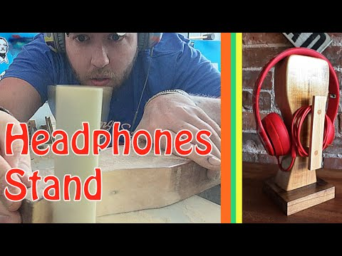 DIY Wooden Headphones Stand