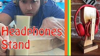 DIY Wooden Headphones Stand