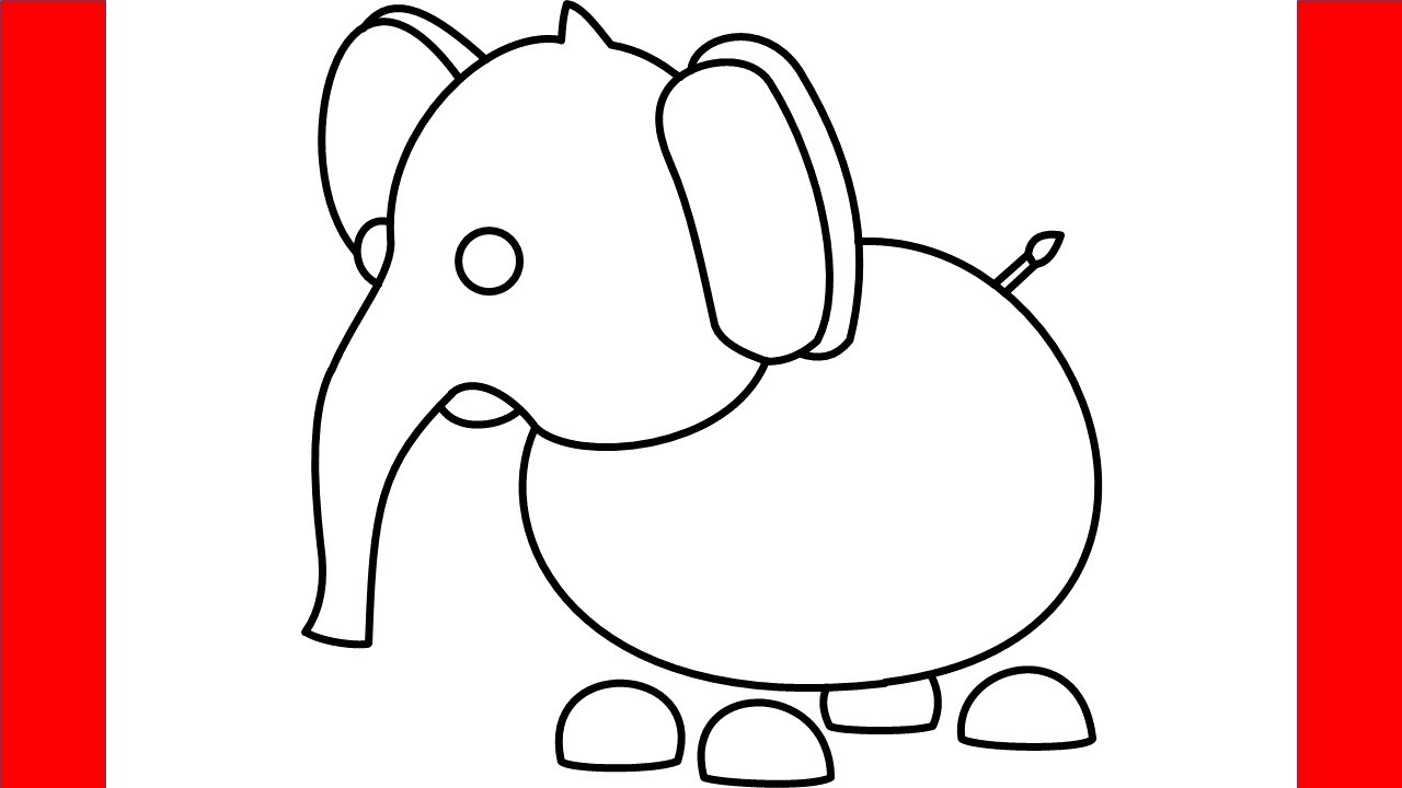 How To Draw A Elephant From Roblox Adopt Me Step By Step Drawing