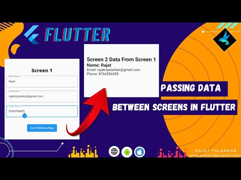 Flutter Passing Data Between Screen   Send data from one page to another in flutter