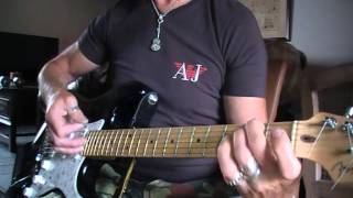 White Lion When the children cry on electric Fender strat guitar
