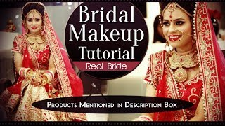 Real Bridal Makeup Tutorial Video | Step By Step Eye and Face Makeup For Traditional Indian Brides