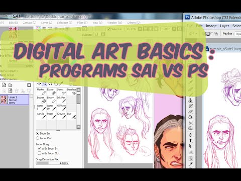 Digital Art Basics : Programs SAI vs. PS