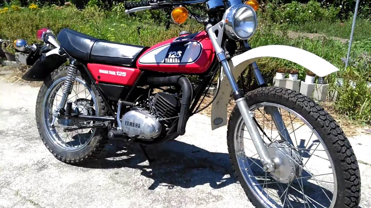 moto trail 125 yamaha id e d 39 image de moto. Black Bedroom Furniture Sets. Home Design Ideas